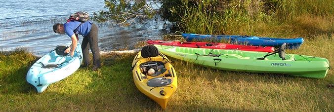 Vorbereitungen zur Kayaktour