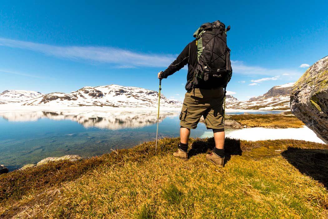 Trekking auf dem Aurlandsfjellet