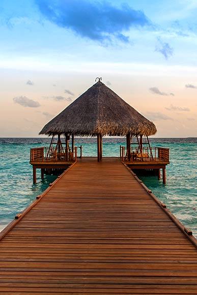 Jetty Malediven