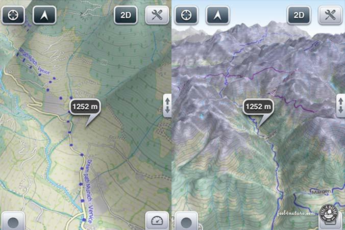iPhone App 3D Maps