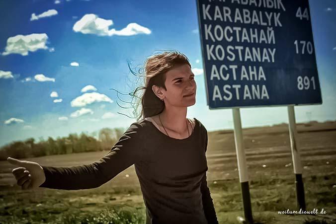 Gwen in Kasachstan