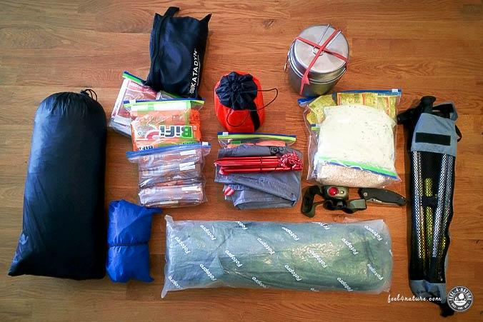Ausrüstung Alpenüberquerung