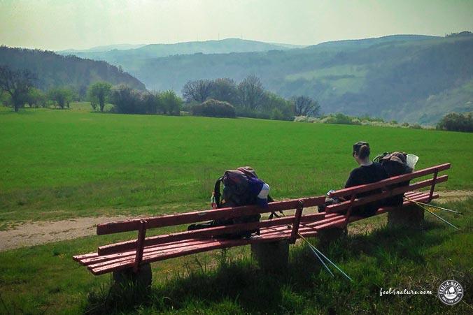 Rheinsteig Wanderpause