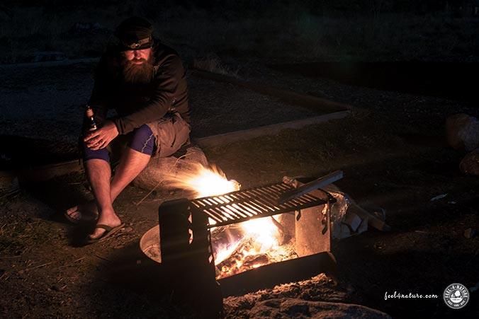 Aussteiger Lagerfeuer