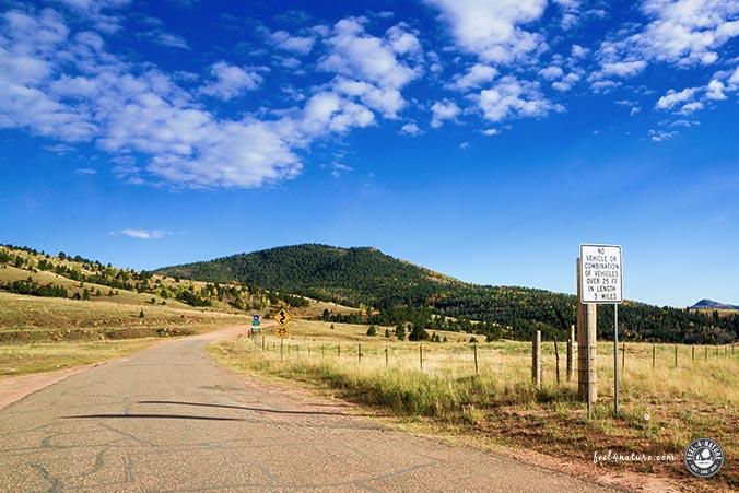 Phantom Canyon Road - Einfahrt