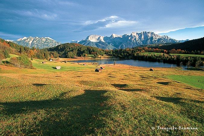 Bayerische Alpen - Karwendelblick