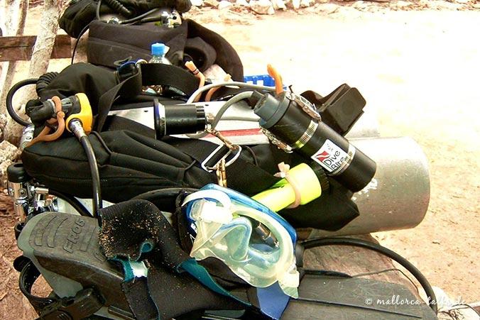 Höhlentauchen - Ausrüstung