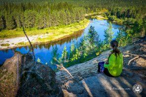 Wandern auf der Bärenrunde in Finnisch Lappland
