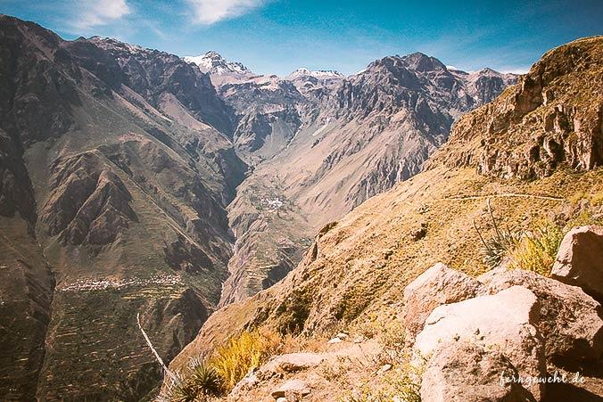 Colca Canyon Ausblick