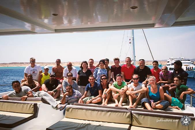 Tauchsafari Ägypten Gruppenfoto