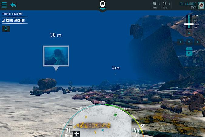 Reef Interactive App Tauchmodus