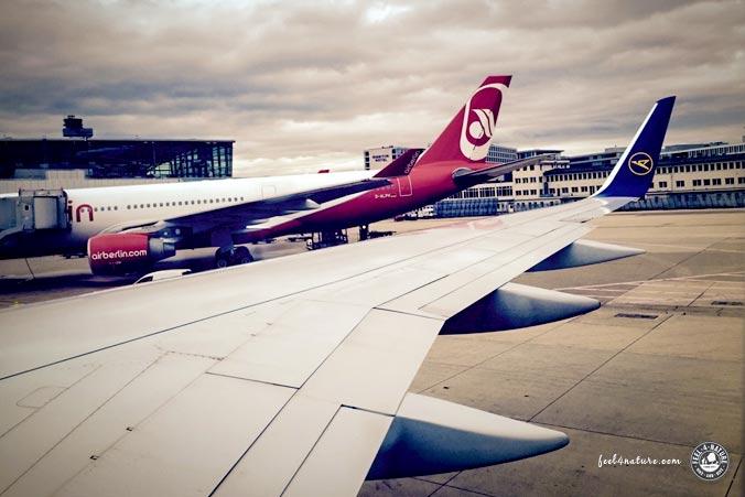 Flugreise Start