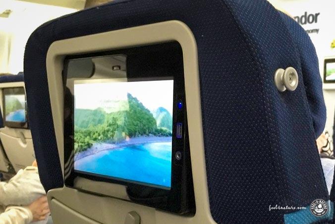 Langstreckenflug Bordunterhaltung