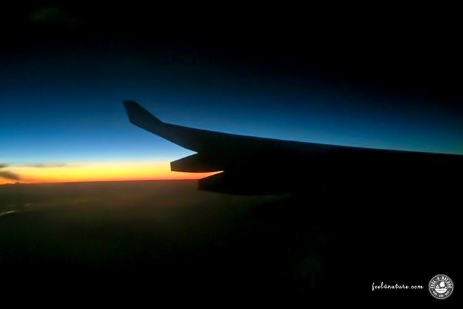 Langstrecken Nachtflug