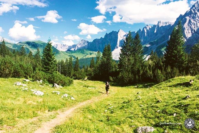 Rucksack Zelt Alpen