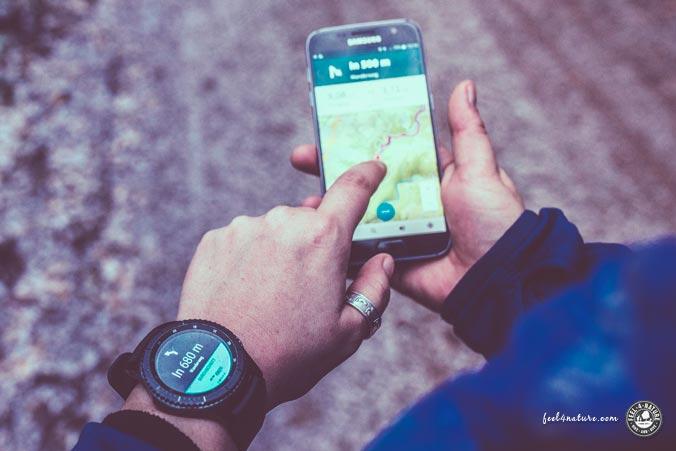 Smartwatch Outdoor Navigation