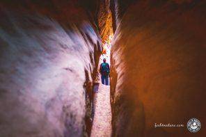 Einsame Wanderung durch den Leprechaun Canyon in Utah