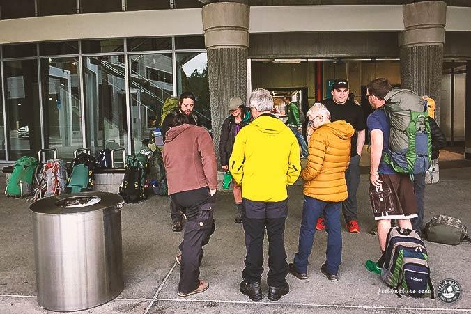 Erste Hilfe Wandern Gruppe