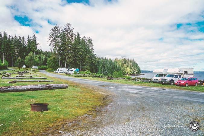 Stellplätze Alder Bay Vancouver Island