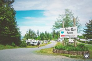 Vancouver Island Camping mit Wohnmobil im Alder Bay Resort
