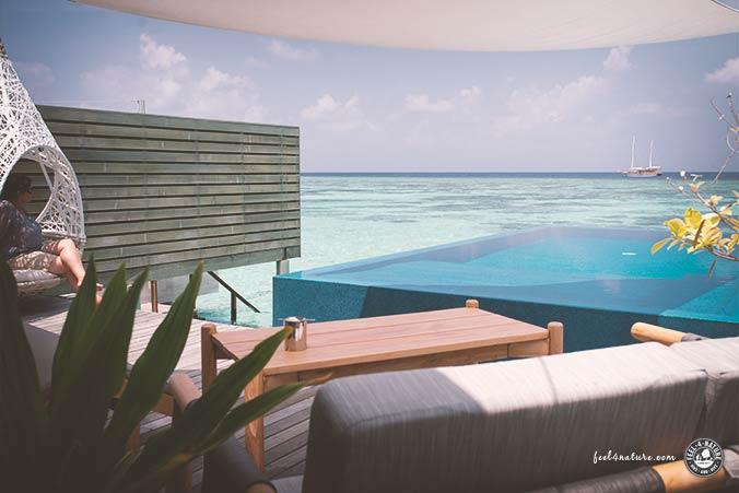 Schlafen auf dem Wasser Malediven