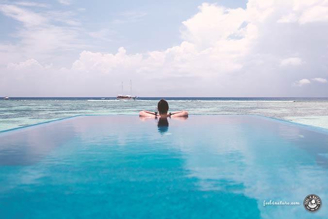 Wasserbungalow Pool Malediven