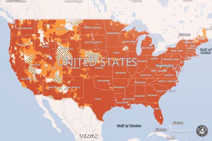 AT&T Netzabdeckung USA