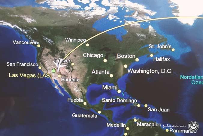 Flug in die USA