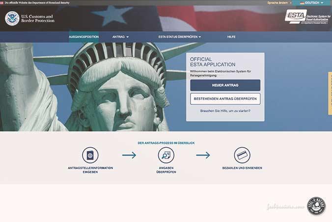 ESTA Reisegenehmigung USA