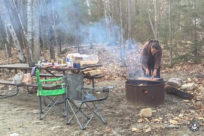 Outdoor Kochen Lagerfeuer