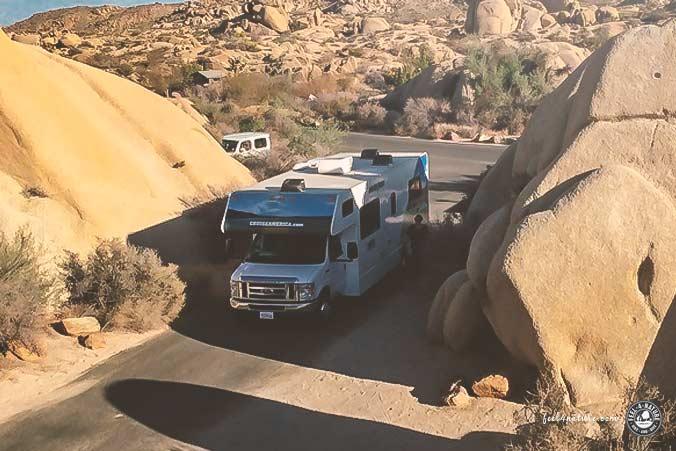 Camping Jumbo Rocks WoMo