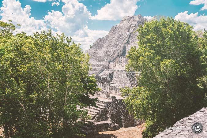 Maya Pyramiden Becan