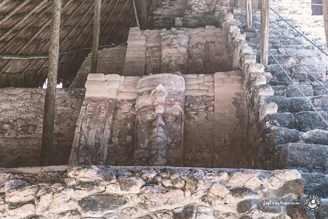 Maya Tempel Masken Kohunlich