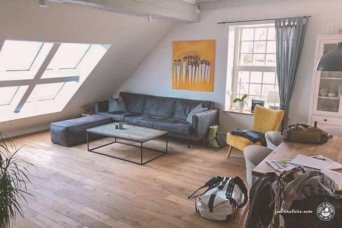 Nordsee Ferienwohnung Wohnzimmer