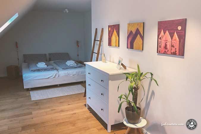 Nordsee Ferienwohnung Schlafzimmer