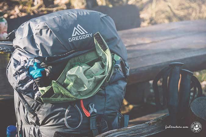 Camping Packliste Rucksack