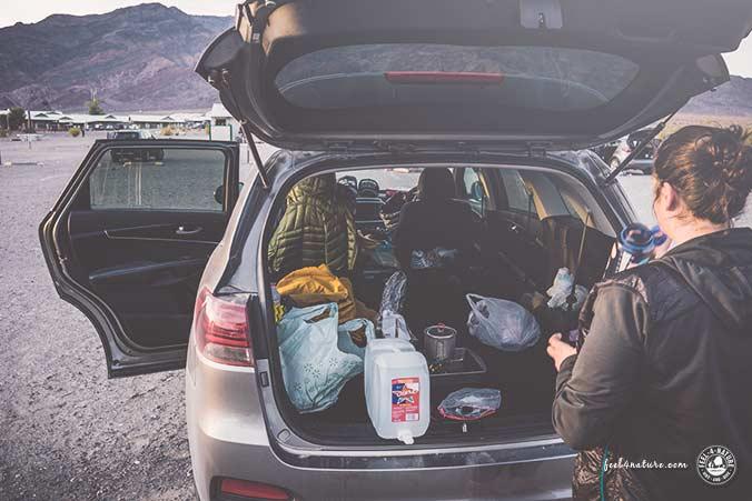 Checkliste Camping Auto