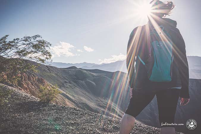 Death Valley Wandern Sonne