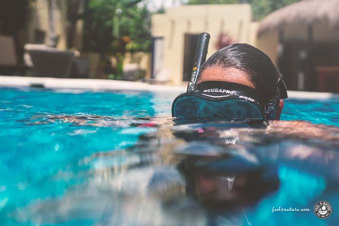 Unterwasserkamera Kinder Schnorcheln