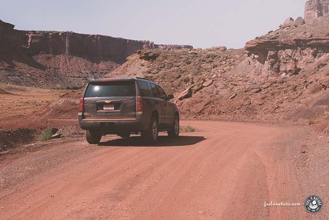USA Mietwagen Gravel Roads