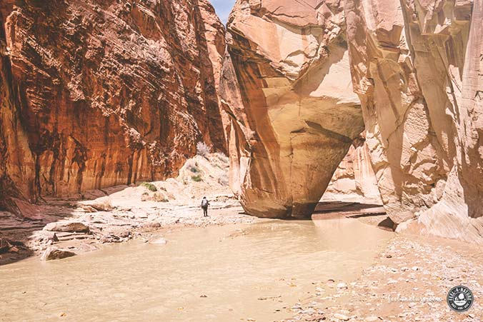 Slide Rock Arch Paria Canyon