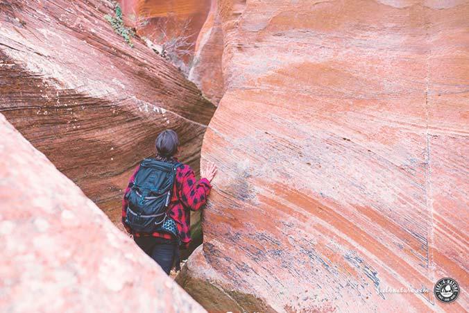 Zion Nationalpark Wanderung Keyhole Canyon