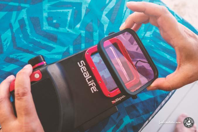 iPhone Unterwassergehäuse Rotfilter