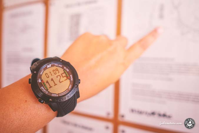 Scubapro Tauchcomputer Uhrenformat